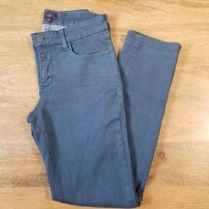 NYDJ Solid Blue Skinny Legging Jeans Size 2